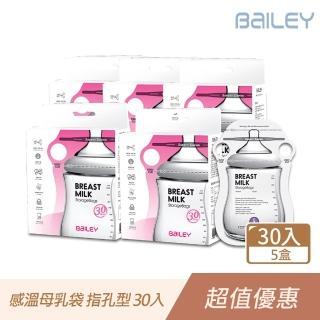 【韓國BAILEY貝睿】感溫母乳儲存袋-指孔型30入(5盒)