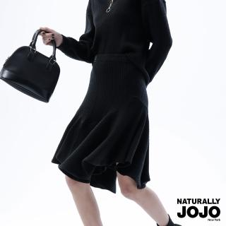 【NATURALLY JOJO】都會高雅魚尾裙(黑)