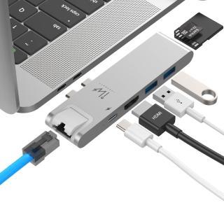 【Innowatt】USB 3.1 Type-C 七合一多功能集線器 iW71N 銀(MacBook Pro / MacBook Air 2018 適用)