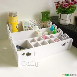 【Osun】DIY木塑板桌面雜物收納盒化妝盒(CE178-