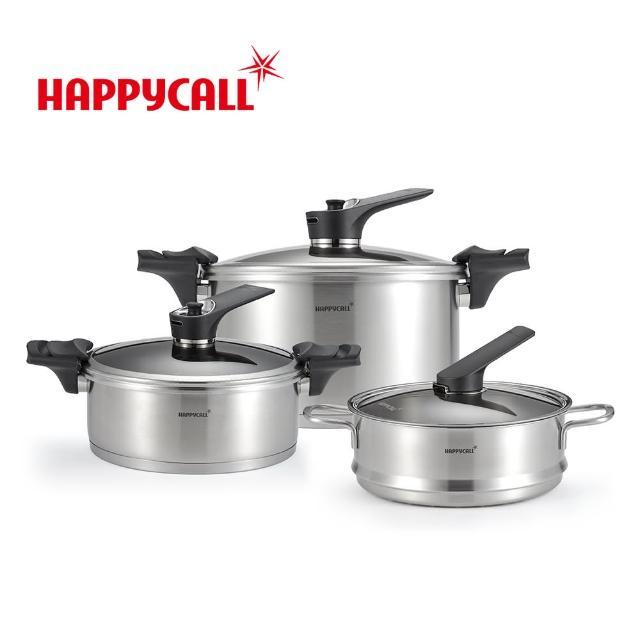 HAPPYCALL不鏽鋼IH真空壓力鍋組
