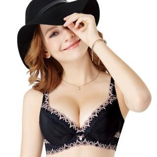 【Swear 思薇爾】i黑白系列B-E罩蕾絲包覆內衣(黑色)