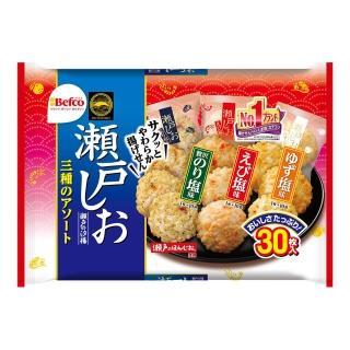 【Befco 栗山】瀨戶三種蝦味仙貝153g