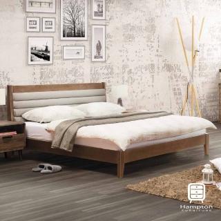 【Hampton 漢妮】艾文斯系列淺胡桃5尺雙人床架(雙人床/床組/床/床架)