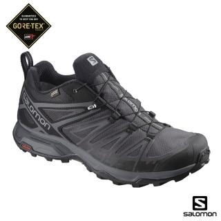 【salomon】登山鞋 低筒 GORETEX 防水 男 X ULTRA 3 WIDE 寬楦(黑/磁灰/靜灰)