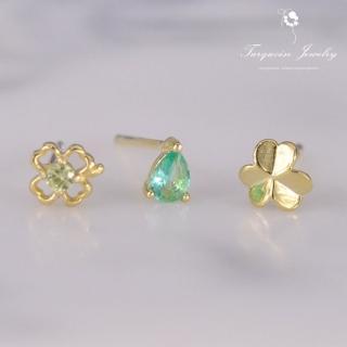【Turquoise Jewelry】輕珠寶系列幸運草橄欖石細緻耳環組(tqsh0015)
