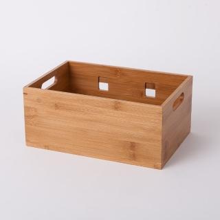 【生活工場】竹意壁掛型萬用收納盒 大