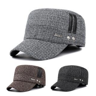 【活力揚邑】護耳平頂帽保暖防風加厚刷毛棒球帽鴨舌帽(3色可選)