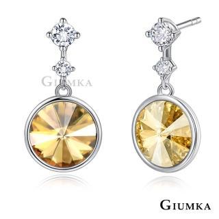【GIUMKA】純銀耳環 圓舞曲耳環 採施華洛世奇水晶元素  MFS08144(白色/香檳金)