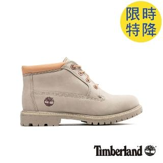 【Timberland】女款淺褐色磨砂革經典低筒靴(A1WC6K51)