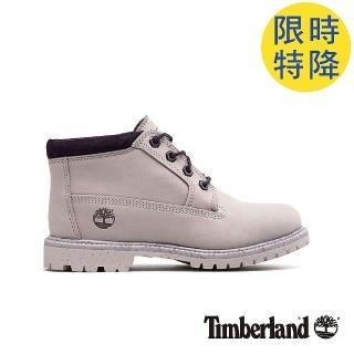 【Timberland】女款淺紫色磨砂革 經典低筒靴(A1WCSS40)