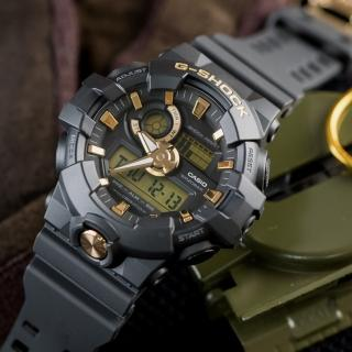 【CASIO 卡西歐】G-SHOCK 搶眼色調雙顯數位腕錶(GA-710B-1A9DR)
