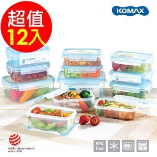 【韓國 KOMAX】BIOKIPS 耐熱方形保鮮盒12件組(670mlX4、900mlX6、2000mlX2)