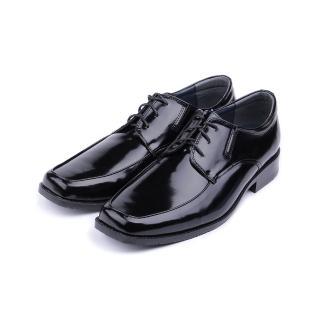 【鞋全家福】男_綁帶寬楦方頭紳士皮鞋_黑