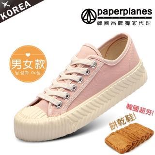 【Paperplanes】韓國空運/正常版型。女款帆布休閒餅乾鞋(7-507粉/現貨)