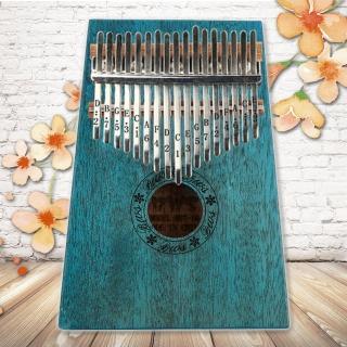 【美佳音樂】奧福樂器 Kalimba 卡林巴琴/拇指琴-超值全配.17音桃花芯木單板-翡翠綠(贈旅行包)