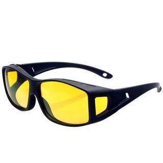 JXD 可包覆近視眼鏡於內的日夜兩用偏光夜視墨鏡-黃色鏡片