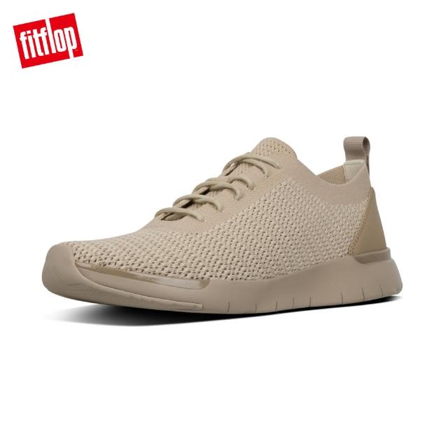 【FitFlop】FLEXKNIT LACE-UP SNEAKERS(淺礫色)