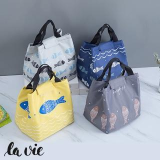 【La Vie】手提小魚保溫便當袋野餐保溫袋(四色可選)