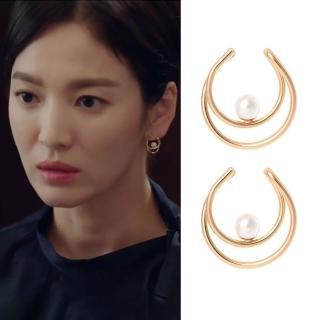 【梨花HaNA】宋慧喬男朋友同款925銀針守護珍珠環繞耳環