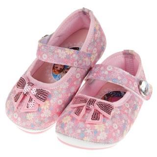 【布布童鞋】Disney冰雪奇緣粉色蝴蝶結亮片寶寶娃娃公主鞋(B8N823G)