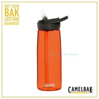 【CAMELBAK】750ml eddy+多水吸管水瓶 熔岩橘(CB1643801075 水壺)