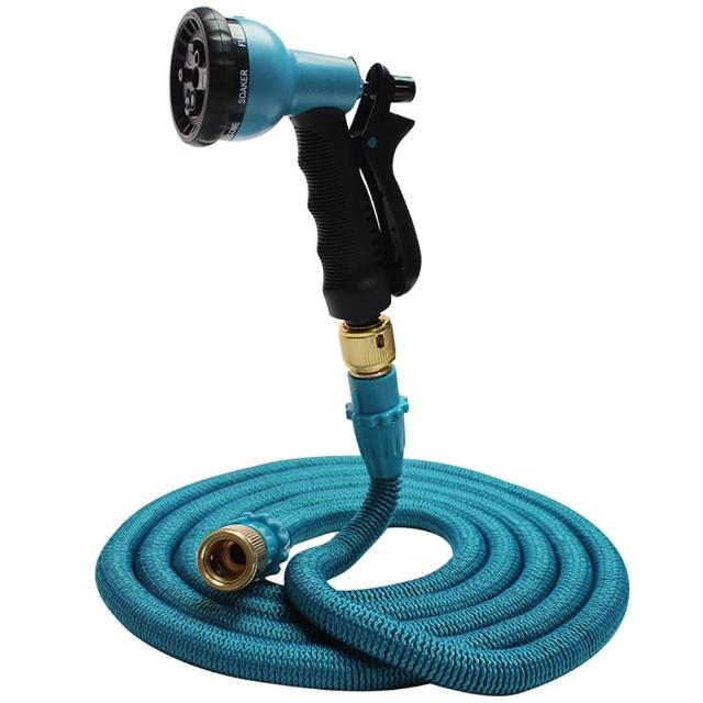 【Effect】第八代高壓一體式8段彈力伸縮水管(15公尺/贈萬用轉接頭)