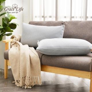 【Grace Life】台灣製可水洗6D透氣枕 透氣白(1入)