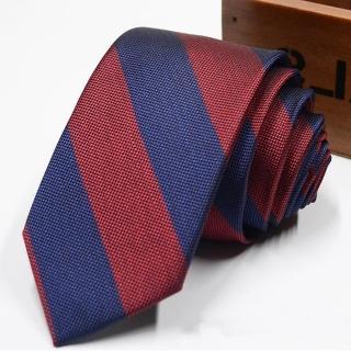 【拉福】領帶窄版領帶倫敦6cm領帶手打領帶(藍紅)