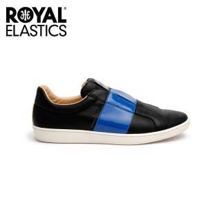 【ROYAL Elastics】男-Duke Straight 真皮時尚休閒鞋-黑藍(00584-995)