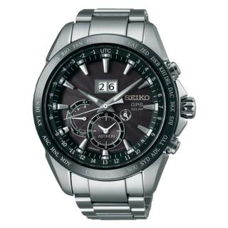 【SEIKO 精工】Astron GPS對時大視窗日期時尚腕錶-黑面45.5mm(8X42-0AC0D/SSE149J1)