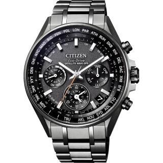 【CITIZEN 星辰】光動能 鈦 GPS衛星對時手錶-灰/44mm(CC4004-58E)