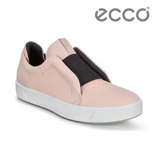 【ecco】SOFT 8 W 撞色套入式休閒鞋 限定色 女(粉 44098301118)