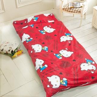 【HELLO KITTY】幼教加大兒童睡袋(紅)