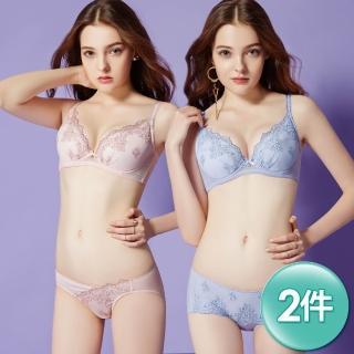 【Swear 思薇爾】芭紗花園系列A-E罩蕾絲刺繡水袋內衣2套組(隨機出貨)