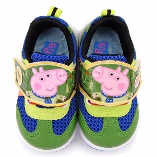 【童鞋城堡】粉紅豬小妹 喬治弟弟 中童 恐龍透氣運動鞋(PG6419-綠)