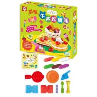 3Q小麥黏土:甜蜜午茶鬆餅組(內附黏土模具及配件8個+小麥黏土6色(共150g)+DIY教學手冊1本)