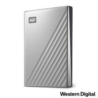 【WD 威騰】My Passport Ultra 2TB 2.5吋USB-C行動硬碟(炫光銀)
