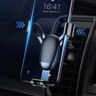 【BASEUS】倍思質感迷你重力結構感應車用/出風口手機支架(黑色)