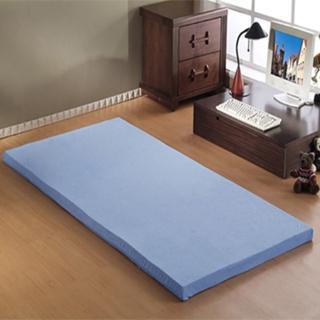 【班尼斯】5公分綿惰性記憶矽膠床墊-附3M吸濕排汗布套(全平面-3尺單人)