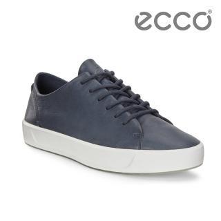【ecco】SOFT 8 W 簡約柔軟皮革休閒鞋 女(深藍 45084301038)