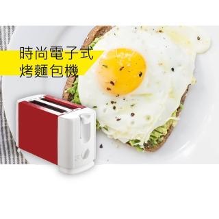 【羅蜜歐】食尚電子式烤麵包機_TO-1609P(紅色)