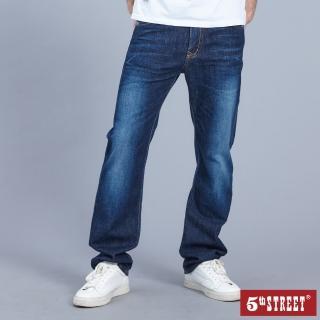 【5th STREET】男天絲棉洗舊長褲-原藍磨