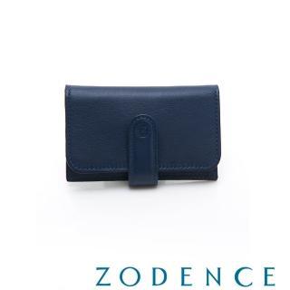 【ZODENCE 佐登司】COMBO系列進口牛皮名片夾(藍色)