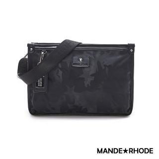 【MANDE RHODE 曼德羅德】卡莫雷茲-美系潮男風格輕量側背包-迷彩黑(P316)