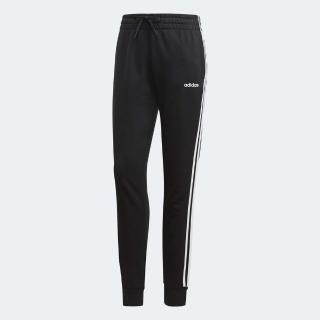 【adidas 愛迪達】運動長褲 ESS 3 Stripes Pant 女款 愛迪達 棉質縮口褲 日常穿搭 路跑 舒適 黑 白(DP2380)