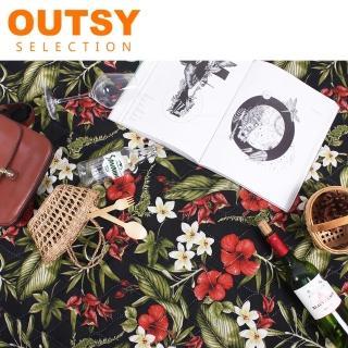 【OUTSY】135x180 特厚鋪棉防水野餐墊/帳篷地墊(祕密花園)