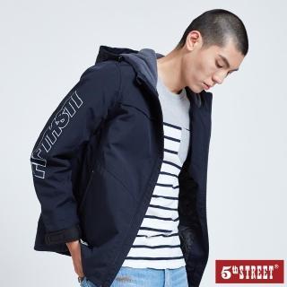 【5th STREET】男防風式鋪棉長袖外套-丈青