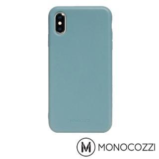 【MONOCOZZI】Lucid Plus iPhone XS 耐衝擊手機保護殼(灰藍)