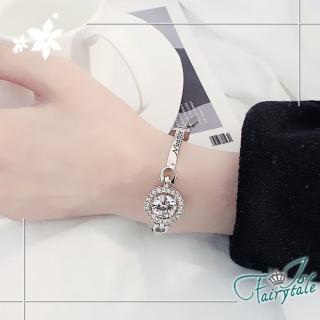 【伊飾童話】燦爛之眼*鋯石亮白銀手環手鍊